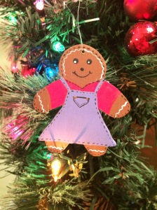 christmas ornament, christmas, gingerbreadman