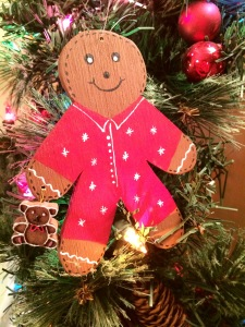 gingerbread man, christmas, christmas ornament, ornament gingerbread, teddy bear
