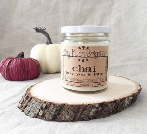 soy candle, chai latte, chai latte candle, fall candle, chai love you a latte, chai latte, chai latte candle, soy chai candle, soy fall candle, cinnamon candle. black tea candle. vanilla candle