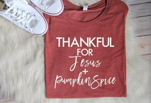 Pumpkin Spice Shirt // Women's Fall Shirts, Christian Shirts, Christian T shirts, Christian Fall Shirts, Fall t shirts, thanksgiving