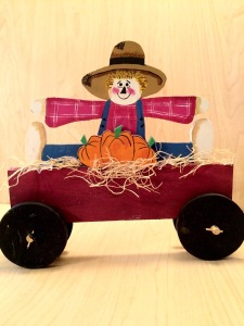 Fall Scarecrow Decoration - scarecrow decoration - Wood Scarecrow - fall decoration - scarecrow pumpkin hay wagon - Wooden Scarecrow